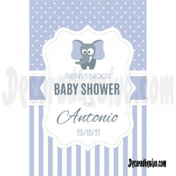 Pancarta-Cartel Baby Shower...
